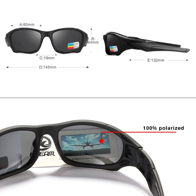 KDEAM Outdoor Sports Polarized Sunglasses Men Curve Cutting Frame Stress-Resistant Lens Shield Sun Glasses Women KD0623 3