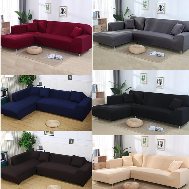 US $15.3 20% OFF|Stretch Elastic Couch Sofa Cover 1/2/3/4 Seater Loveseat  Sofacovers Single Two Seater L Style sofa Slipcover couch sofa covers-in ...