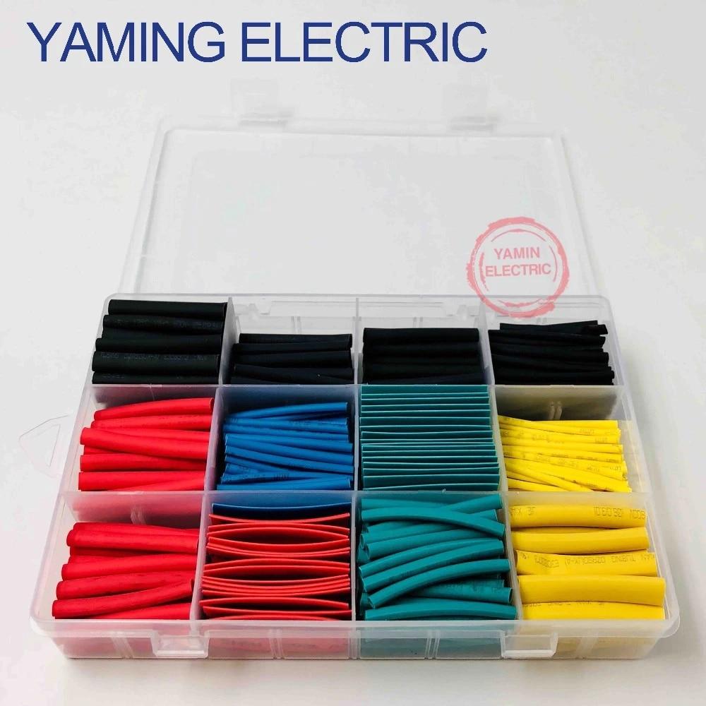 530Pcs Heat Shrink Tubing Insulation Shrinkable Tube 2:1 Wire Cable Sleeve Kit