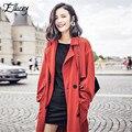 Nueva Llegada 2017 Europe Street Fashion Larga Sección de Gama Alta de La Personalidad Romántica Francés Romance Mujeres Trench Coat