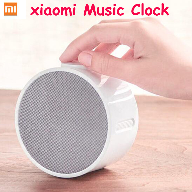 2016 Original Xiaomi Mi Music Alarm Clock Portable Speaker Clock Bluetooth 4.1 10M 2600mah Standby 360 Hours Wake Up By Music mi 313 migix movement music купить дешево в китае