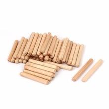 UXCELL Лидер продаж 50 шт. ящик для шкафа круглая рифленая деревянная штифтовая шпилька для строительства крепких деревянных соединений