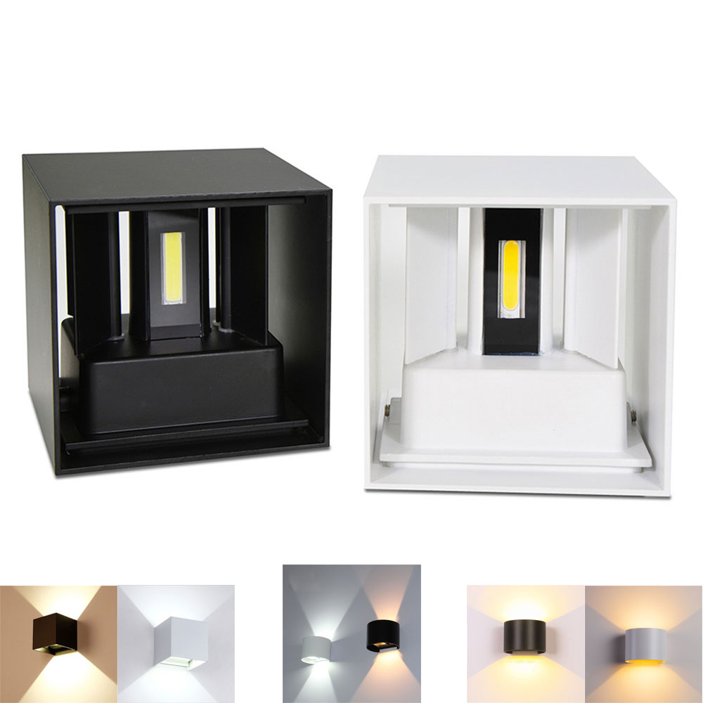 12W Waterproof Outdoor Indoor Led Wall Lamp Modern Aluminum Adjustable Wall Light Bedroom Hallway Porch Balcony(China)