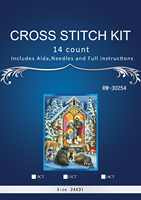 Alta calidad hermosa encantadora contó Cruz puntada Kit de Natividad el nacimiento de Cristo Jesús religión Dios dim 0878