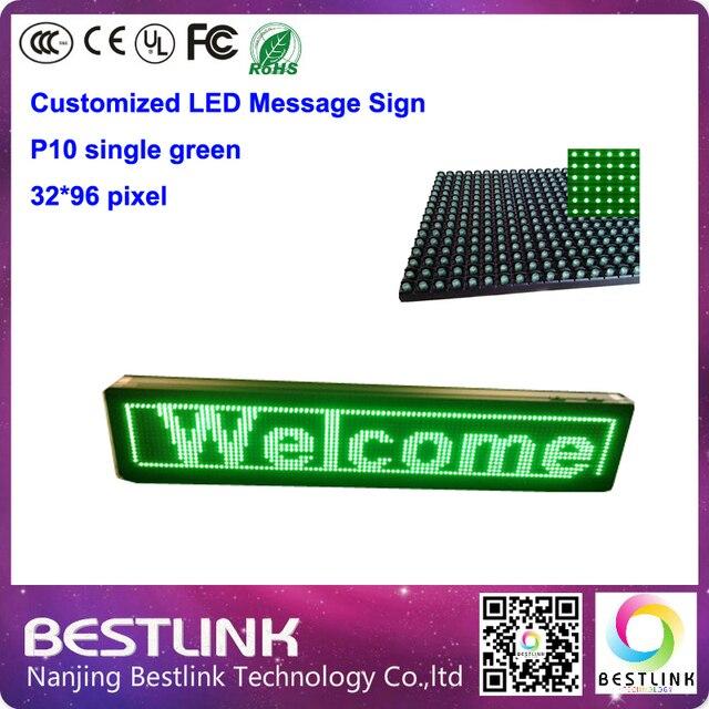 P10 из светодиодов модуль зеленый для наружного из светодиодов бегущий текст 32 * 96 пикселей из светодиодов сообщение вывеска из светодиодов рекламный дисплей
