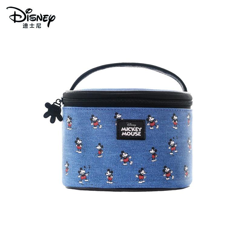 Disney Genuine Minnie Fashion Portable Ladies Multi-function Storage Bag Cosmetic Bag Blue Mickey Mouse Purse