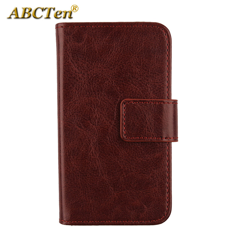 reputable site ce05d 88d59 US $3.39 15% OFF|ABCTen Flip Holster Cover Funda PU Leather Wallet Case for  Argos Alba 5 Inch 3G 2016 version 5
