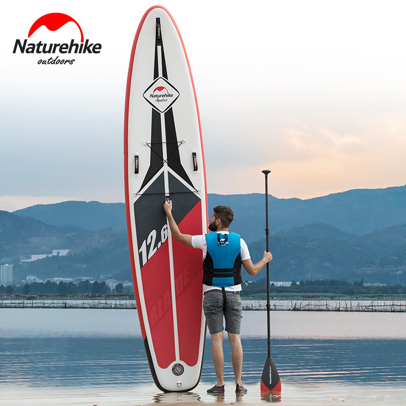 NatureHike Sup paddle surfboard adult professional water skiing board standing paddle board inflatable boat aid kits цена и фото