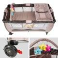 Hele Koop Portable Baby Crib Nursery Reizen Vouwen Babybed Tas Infant Toddler Cradle Multifunctionele Opbergtas voor Baby Care