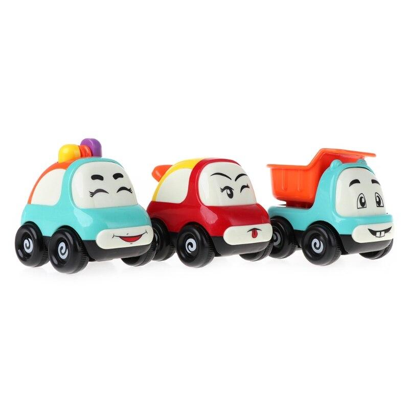 New Inertia Cartoon Expression Car Toys Mini Truck Kids Baby Toys Gift
