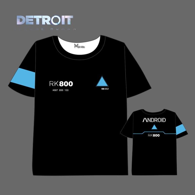 Detroit: Become Human T-shirt Men Women Short Sleeve Summer dress Anime concept t shirt