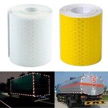 Серебристо-белый пленки, светоотражающими предупреждение светоотражающие ленты красочные наклейки безопасности шт.