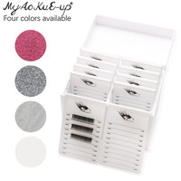 Eyelashes Storage Box Tools 10 Layers Acrylic Pallet Lash Holder Individual lash Volume Display Stand For Eyelash Extension Tool