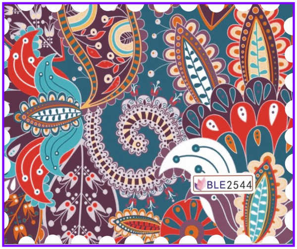 1X pegatina de Arte de uñas Etiqueta de transferencia de agua flor rueda ventilador encaje impresionista VINTAGE BLE2541-2546