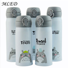 350ml/500ml Totoro Thermocup Thermos Water Bottle Stainless Steel Thermal Cup Kids Thermo Mug Travel Vacuum Flask Termos