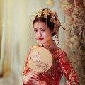 2016 Новое Прибытие Handmade Благородный Золотой Феникс корона для Невесты Моды Металлический Головной Убор Принцессы Свадьба Волосы ювелирные Аксессуары