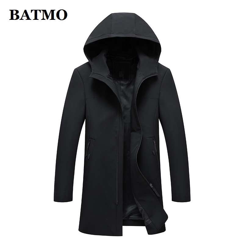 BATMO 2019 New brand spring summer casual outwear men hooded jacket mens jackets and coats black windbreaker mens overcoat 1897