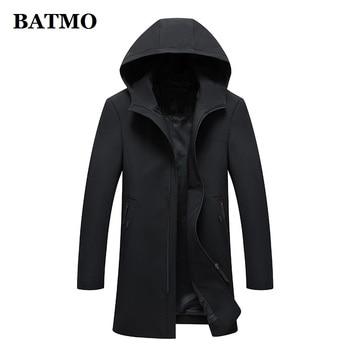 BATMO 2019 New brand spring summer casual outwear men hooded jacket mens jackets and coats black windbreaker mens overcoat 1897