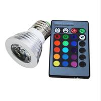 RGB Bulb MR16/ E27/GU10 LED Spotlight 4W LEDS AC110 245V Bulbs 24 Keys IR Remote Lights For Home Bar Party Lighting RGB LED Lamp