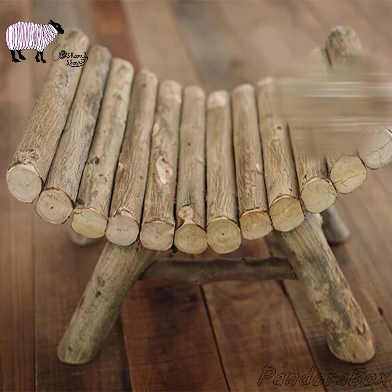 Newborn Photography Props Wooden Chair Basket Baby Bed Photo Shoot Posing Prop Bebe Foto Accessories Infant Kids Session Bed