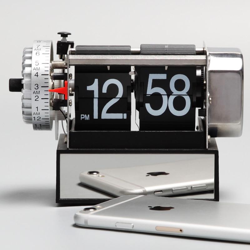 1937437db12 Home Decor Novelty Gear Watch Table Clock Flip Down Clocks Vintage Alarm  Mechanical Retro Watch Modern Relogio De Mesa