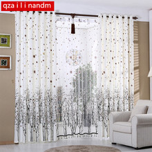 The New Rustic White Curtains For living room / kitchen room Curtains Snowy Trees Window Treatment/Drapes Custom-made