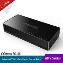 Ethernet Switch 8 Port Desktop Fast Ethernet Switch lan hub 8 port 10/100Mbps MINI netwerk switch Kleine en Smart Plug en Play