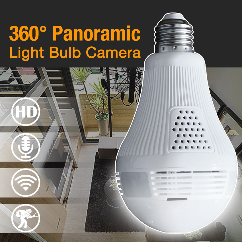 все цены на 960P 1080P degree Bulb WIFI Panoramic camera Wireless Fisheye IP Camera Smart Home 3D VR 1.3MP 2.0MP Home Security WiFi Cam