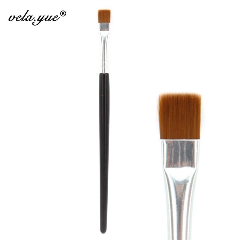 Плоская кисть для подводки глаз губ лайнер для бровей Блеск Кисть для макияжа косметический инструмент оптовая продажа 10 шт./лот