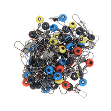1Pack (60pcs)  Fishing Tackle Running Ledger Slider Deads Snap Links Swivels  for Sea Fishing 3 Size Random Color