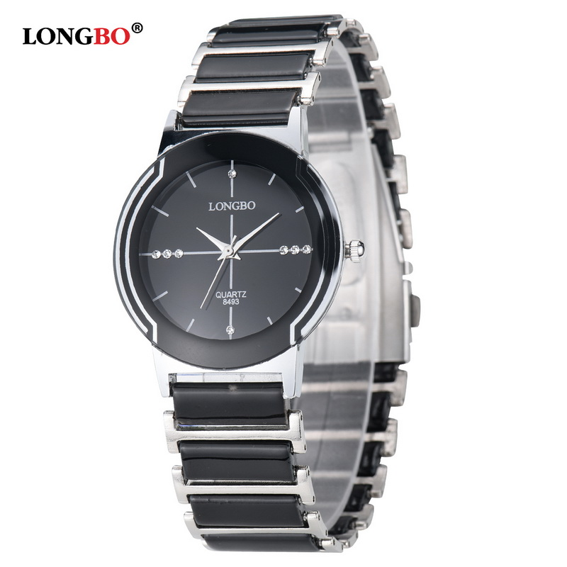 Luxury Brand LONGBO Mens Women Lovers Ceramic Watch Fashion Geneva Couple Watches Male Quartz Wrist Watches Relojes Mujer 8493