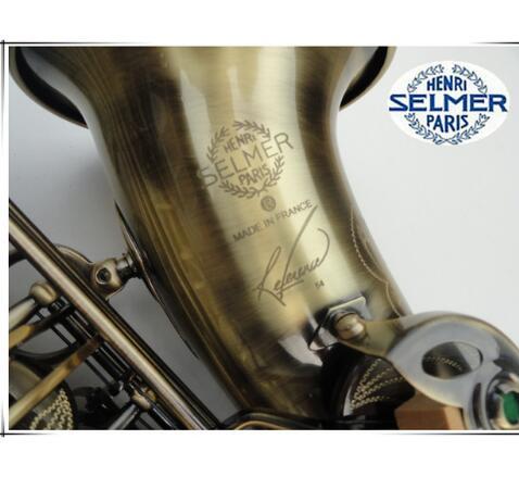 Франция Анри Paris Профессиональный Саксофон альт R54 бронза Музыкальные Инструменты Профессиональный Саксофон тенор под старину Медь модели