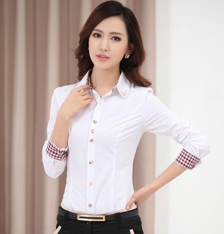Online Shop 2017 new womens office shirts women solid polo shirt ...