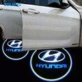 2x LED Двери Автомобиля Добро Пожаловать Логотип Свет Для Hyundai solaris акцент i30 ix35 santa fe tucson getz elantra gt coupe i10 i20 sonata i40