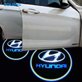 2x LED Car Door Welcome Logo Light For Hyundai solaris accent i30 ix35 elantra gt santa fe tucson getz i20 sonata i40 coupe i10