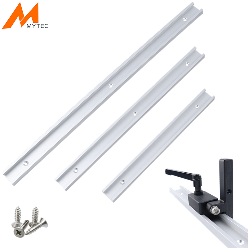 Aluminium Alloy T-track 300/400/500mm T-Slot Miter With Track Stop Jig For Carpenter Manual Router Table DIY Woodworking Tools 2pcs t tracks t slot miter track jig fixture slot for router table band saw t tracks length 300 400 600 800mm kf713