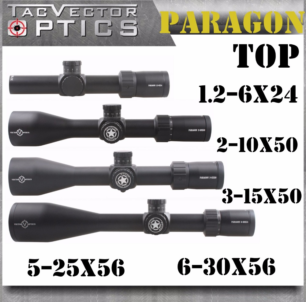TAC Vector Optics Paragon Tactical Rifle Scope High Quality Long Range Clear German Lens Riflescopes vector optics counterpunch 6 25x56 ffp varmint rifle scope clear illuminated moa mp reticle for long range target tactical shoot