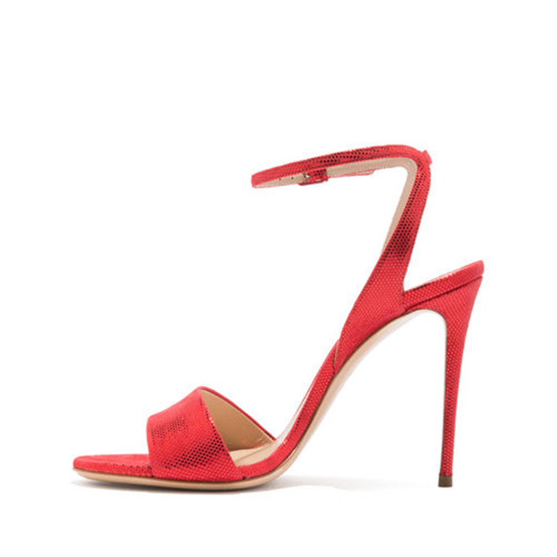 gold Européenne Romain Stilettos Mode Boucle La De Catwalk red Banquet Pointu Dames Plus Black 7HwaY
