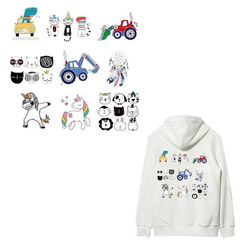 Термопечать для одежды футболка ручная печать пирограф узоры Гавайи мультфильм кошка собака автомобиль домашний Цветочный декор