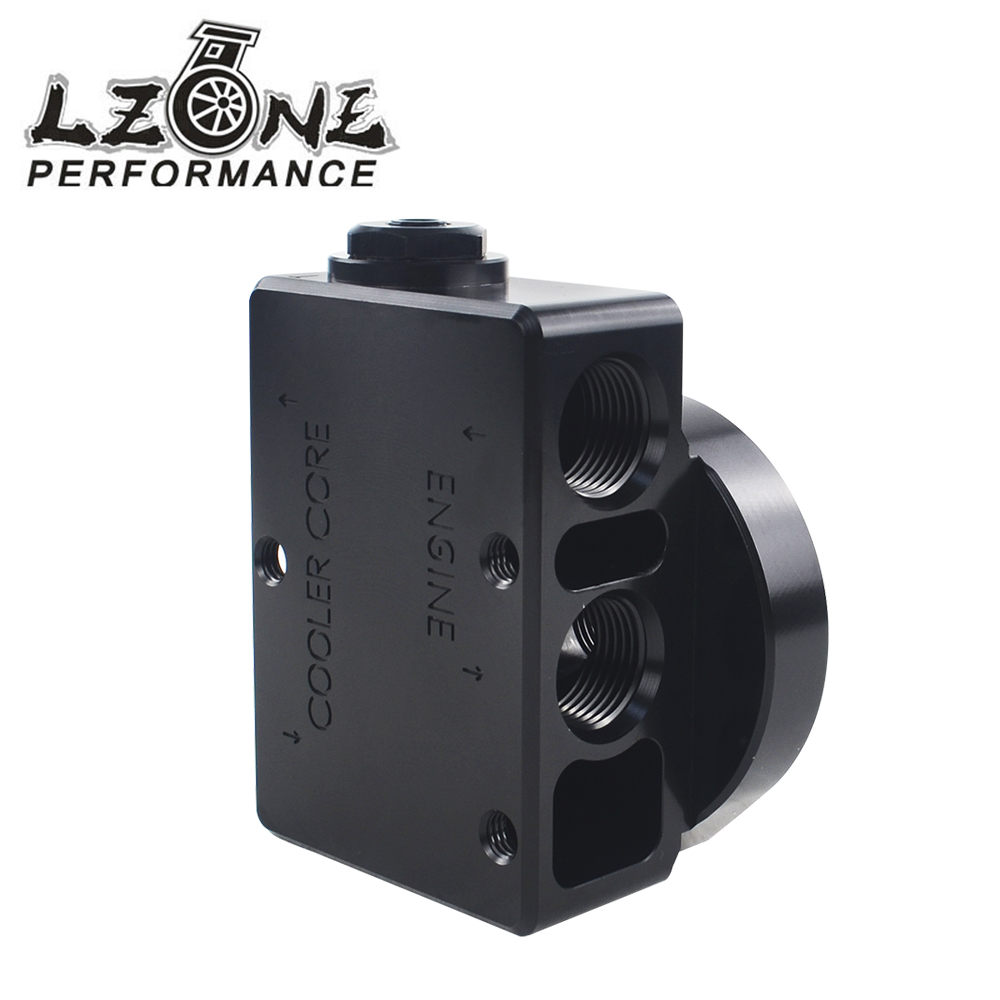 LZONE - Oil Filter Sandwich Adaptor For High quality Oil filter remote block with thermostat 1xAN8 4xAN10 ORB FEMALE JR6744 wlring oil filter sandwich adaptor for high quality oil filter remote block with thermostat 1xan8 4xan10 orb female wlr6744