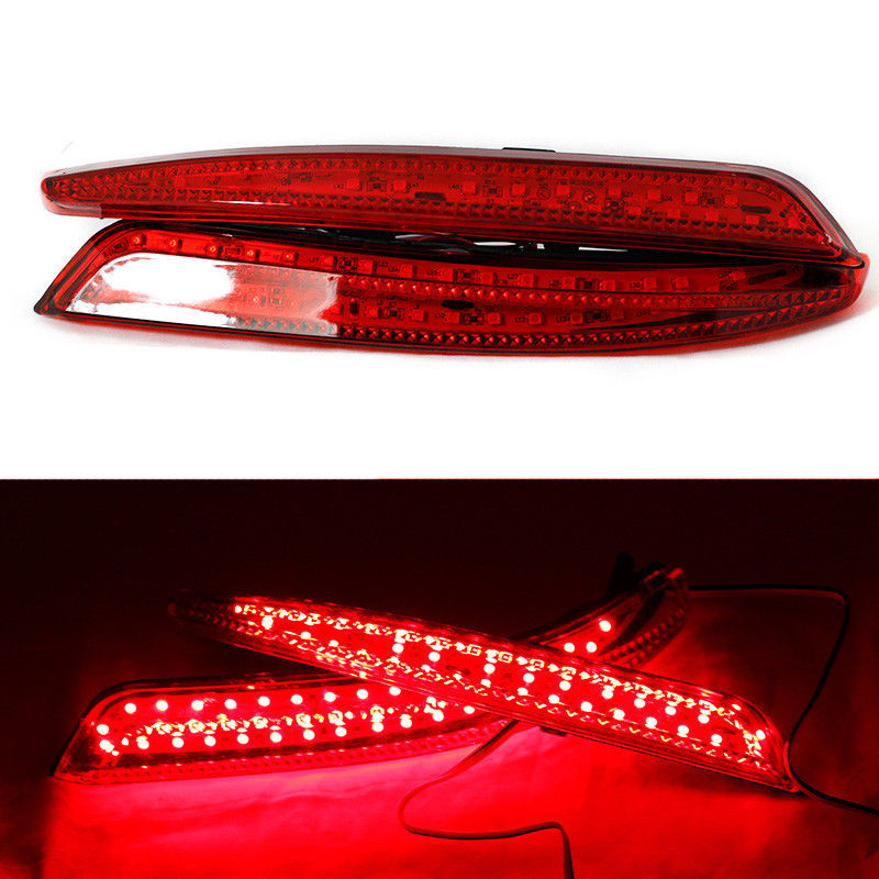 LED Reflector stop Brake light fog lamp For Nissan Almera Bluebird Sylphy Backup Tail Rear Bumper 2006-2011 12 13 14 15 2006 2011 sylphy daytime light free ship led bluebird fog light 2ps set sylphy bluebird daytime light bluebird