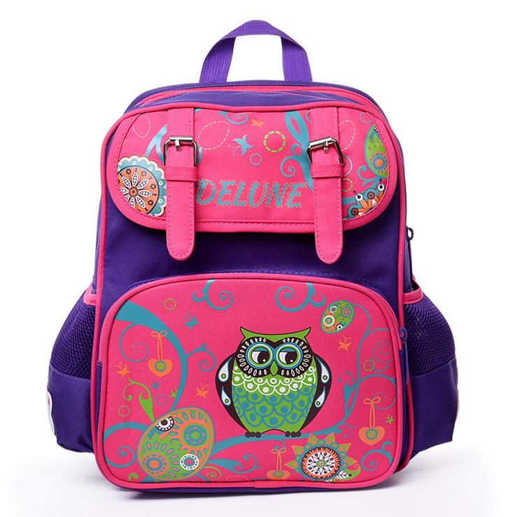 Delune 2018 New European Children School Bag Girls Boys Backpack Cartoon Mochila Infantil Large Capacity Orthopedic Schoolbag children school bag minecraft cartoon backpack pupils printing school bags hot game backpacks for boys and girls mochila escolar