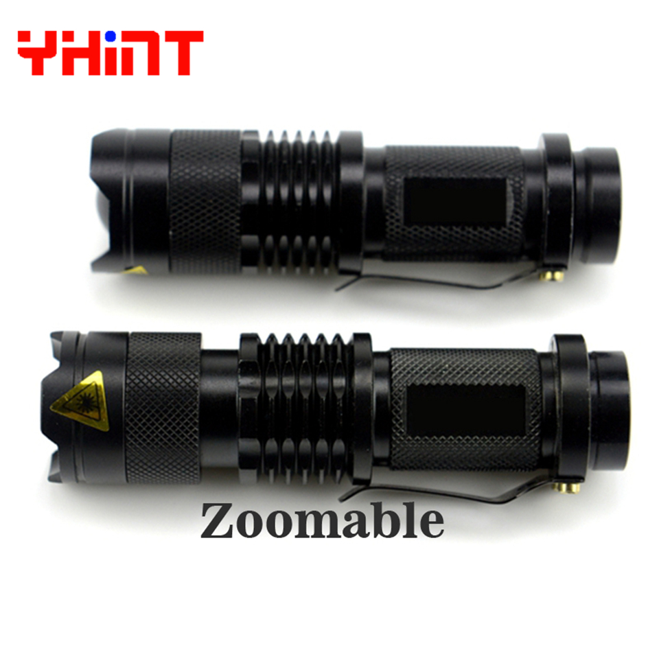 High quality Q5 Aluminum Waterproof Zoomable CREE Q5 LED 14500 Rechargeable Battery supply Torch Tactical Multi Flashlight