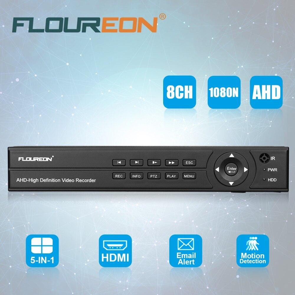 FLOUREON 8CH 1080 P 1080N HDMI H.264 AHD видеорегистратор CCTV видео Регистраторы Облако dvr обнаружения движения