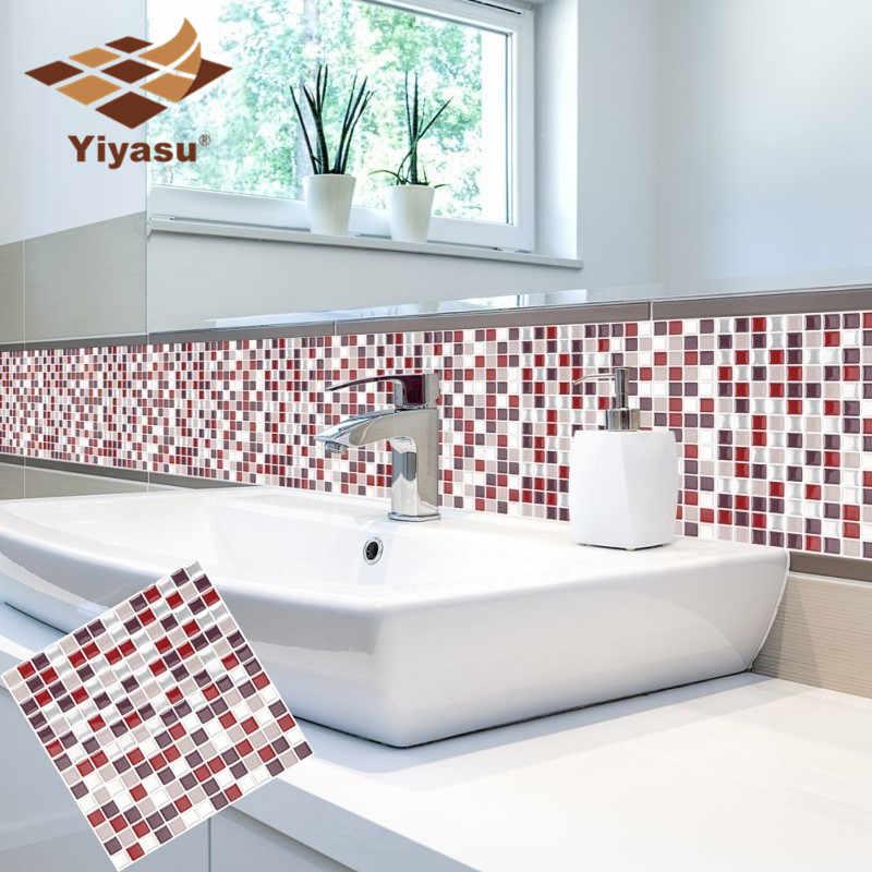 Pleasing Self Adhesive Mosaic Tile Wall Decal Sticker Diy Kitchen Interior Design Ideas Truasarkarijobsexamcom