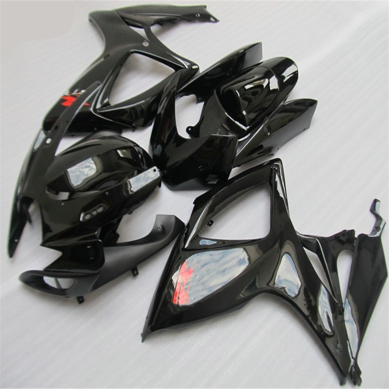 Hey-Fit For Suzuki <font><b>GSXR</b></font> GSX-R <font><b>600</b></font> 750 GSXR600 GSXR750 2006 <font><b>2007</b></font> K6 06 07 black Motorcycle <font><b>Fairing</b></font> <font><b>Kit</b></font> High Quality ABS Plastic image