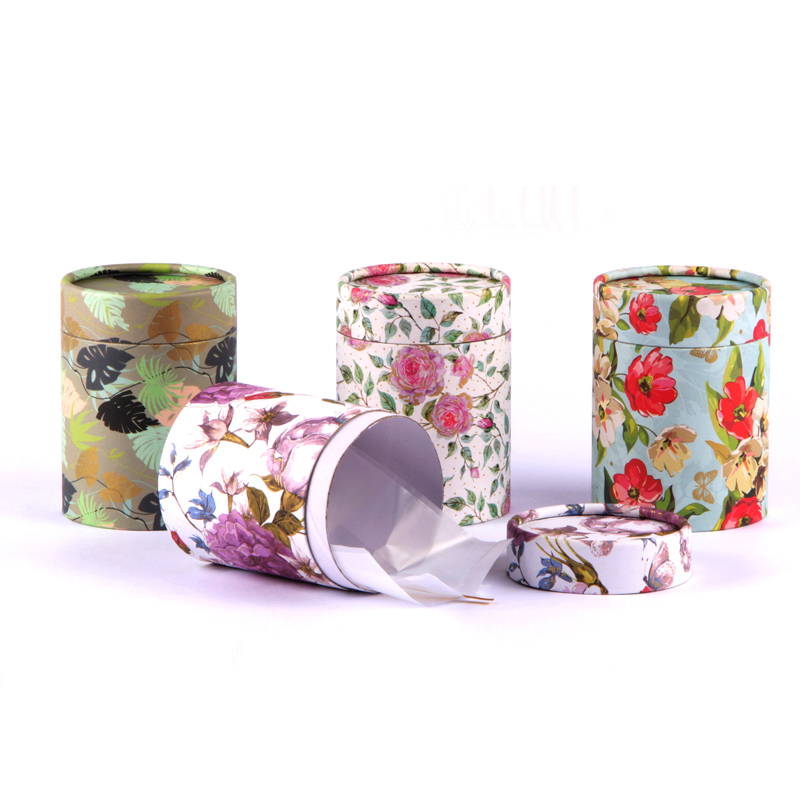 Xin Jia Yi Packaging Round Craft Paper Tea Box Flowers Cylinder Coffee Powder Caddy Packaging Fancy Cardboard Paper Tube
