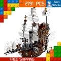 2791 unids serie de películas de piratas del caribe 16002 barba metal vaca marina modelo building blocks establece juguetes compatibles con lego