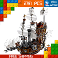 2791pcs Movie Series Pirates of the Caribbean 16002 Metal Beard's Sea Cow Model Building Blocks Sets Toys Compatible With Lego