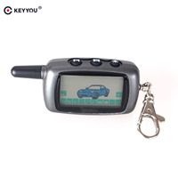 KEYYOU Russia Version Case Keychain For Starline A9 LCD Remote 2 Way Two Way Car Alarm